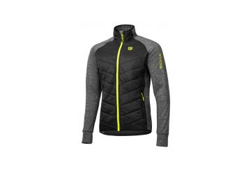 Etape – pánská bunda/mikina CRUX, černá/žlutá fluo - 1