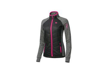 Etape – dámská bunda/mikina SIERRA, černá/růžová - 1