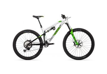 "Rock Machine Blizzard 90-297 RZ gloss silver/black/DVO green 29""/27,5"" (mullet) 2021 - 1"