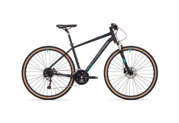 Rock Machine CrossRide 700 mat black/dark grey/petrol blue 2021 - 1