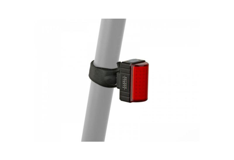 Světlo zad. Author A-Square USB CobLed 100 lm - černá/červené-sklo - 1