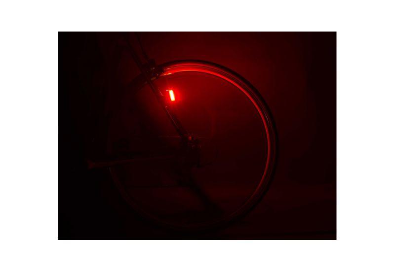 Světlo zad. Author A-Square USB CobLed 100 lm - černá/červené-sklo - 2