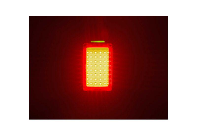 Světlo zad. Author A-Square USB CobLed 100 lm - černá/červené-sklo - 3