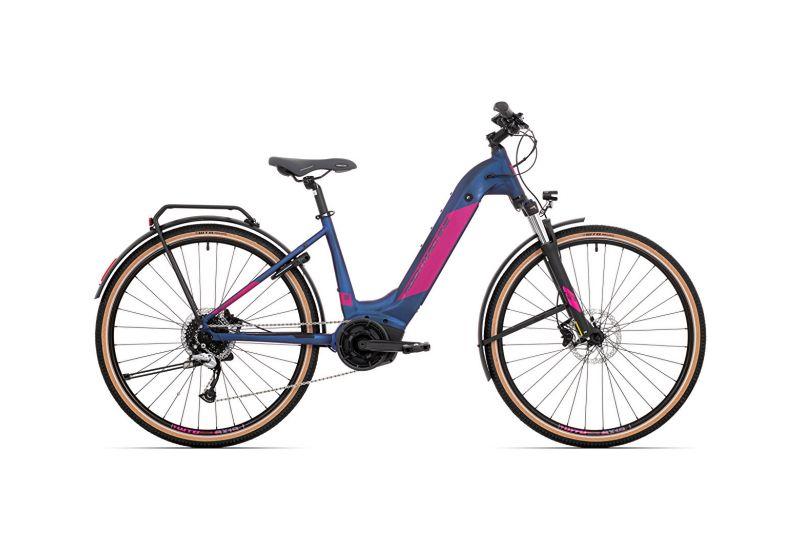Rock Machine CrossRide INT e500 Bosch lady touring mat dark blue/pink 2021 - 1