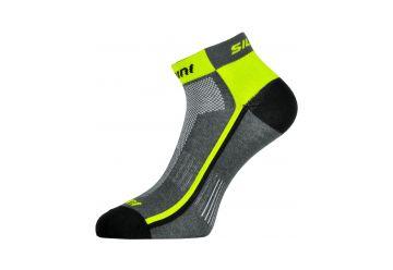 Silvini Cyklistické ponožky Plima UA622 šedázelená - 1