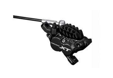 Brzdový třmen Shimano XT BR-M8020 černý 4pístkový post mount + H01A - 1