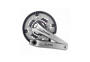 Kliky Shimano Alivio FC-T4060 44-32-22 stříbrné s krytem + BB misky - 1