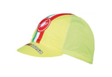 Čepice Castelli Cycling Cap,Yellow fluo - 1