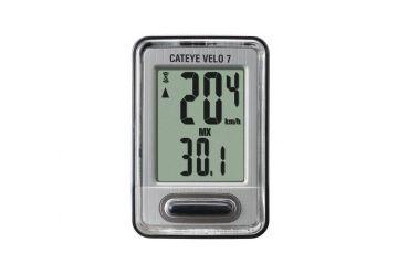 Cyklocomputer Cateye Velo 7 (VL520) černá/stříbrná - 1