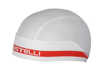 Čepice Castelli Summer Scullcap,White/red - 1