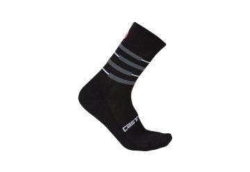 Castelli ponožky Incendio 15 , Black/grey - 1