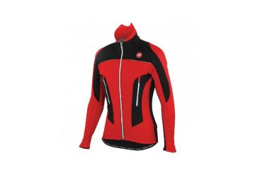 Castelli bunda Mortirolo Due Jacket , Red/black - 1