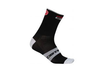 Castelli RossoCorsa 9 Socks Black - 1