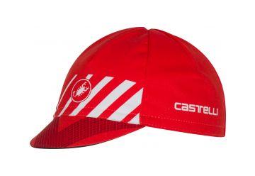 Čepice Castelli Velocissimo Cap , Red/white - 1