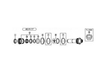 Kroužek osy Shimano - XTR BB-M950 (Y1TF11000) - 1