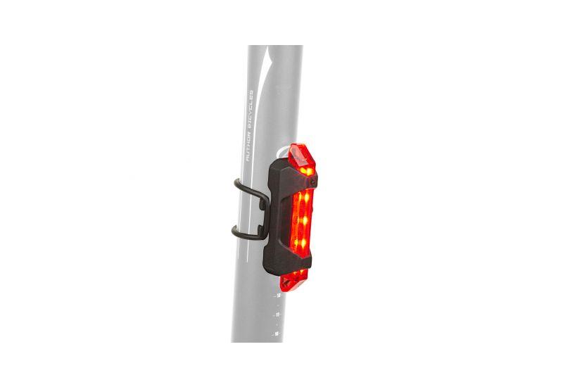 Světlo zadní Author - Stake Mini USB černá/červené-sklo - 1