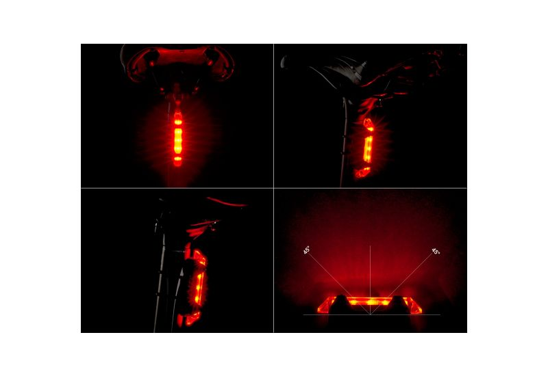 Světlo zadní Author - Stake Mini USB černá/červené-sklo - 2