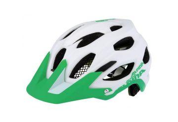 Přilba Alpina Carapax White/green - 1