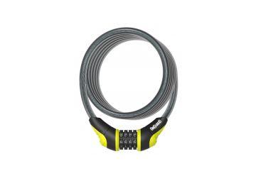 Zámek OnGuard - spirála 1800x10 mm kódový žlutý - 1