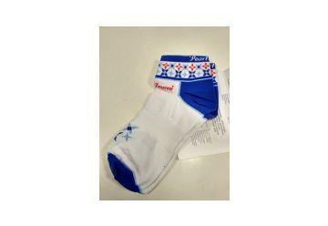 Pearl Izumi ponožky W´Elite Low Sock bílá/modrá - 1