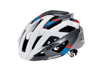 Cyklistická přilba Alpina VALPAROLA RC/ white-darksilver-blue-red - 1