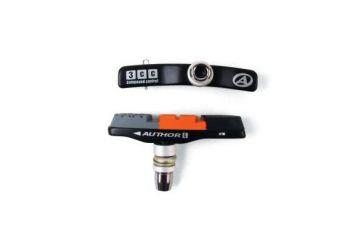 Brzdové špalky Author - ABS - 3CC - Alu černá/oranžová/šedá - 1