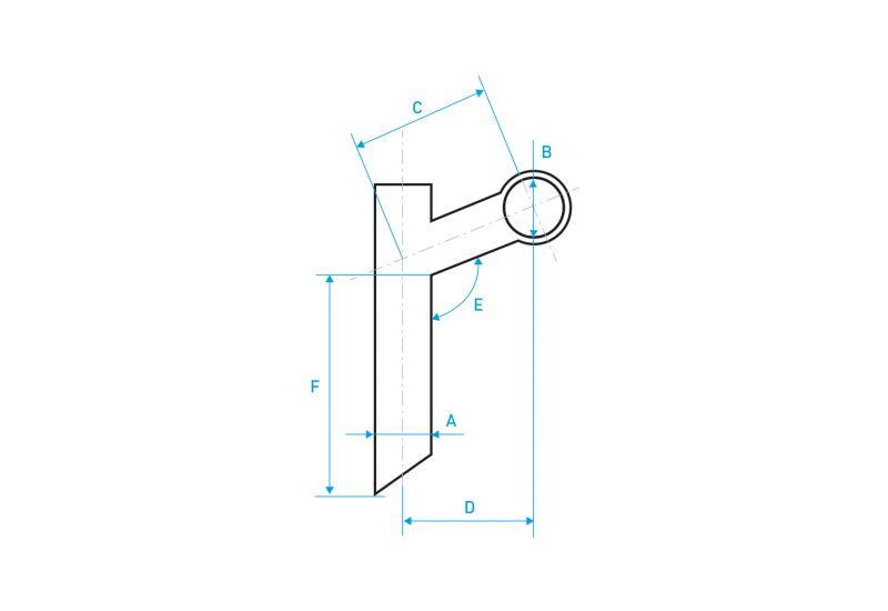 Představec Velobel HA-C40-2 22,2/185/35/25,4 mm 30° - 2