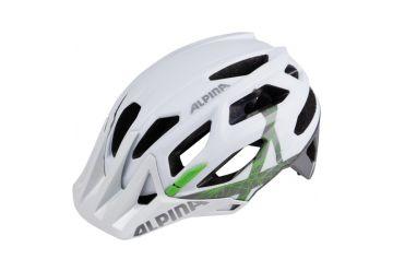Cyklistická helma Alpina GARBANZO white-titanium-green - 1