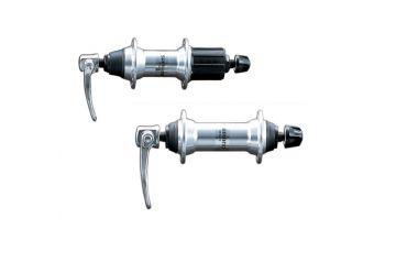 Pár nábojů Shimano - HB/FH-MC12/18 32děr Stříbrný - 1