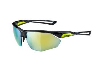 Sportovní brýle Alpina Nylos HR,Black-neonyellow - 1
