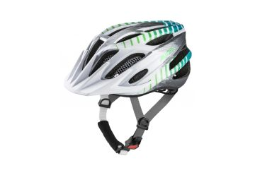 Cyklistická přilba Alpina FB Junior 2.0 Flash, white-steelgrey-gradient (s blikačkou) - 1