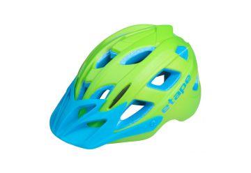 Etape - dětská přilba na kolo JOKER, zelená/modrá matná - 1