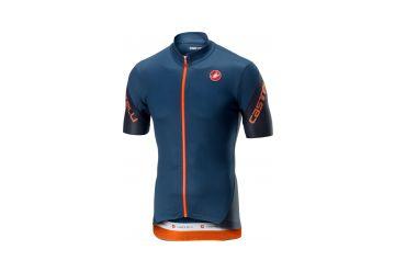 Pánský cyklistický dres Castelli Entrata 3 Jersey FZ Steel Blue - 1