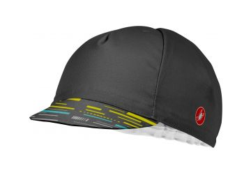 Čepice Castelli Cycling Cap,dark gray/yellow fluo - 1