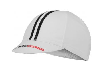 Čepice Castelli Cycling Cap ,White/black - 1
