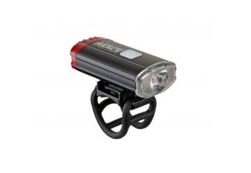 Světlo př. & zad. Author A-DoubleShot 250 / 12 lm USB černá - 1