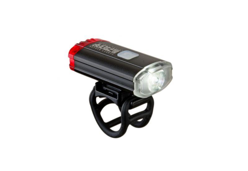 Světlo př. & zad. Author A-DoubleShot 250 / 12 lm USB černá - 2