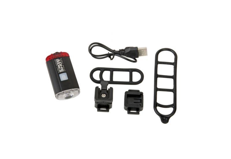 Světlo př. & zad. Author A-DoubleShot 250 / 12 lm USB černá - 5