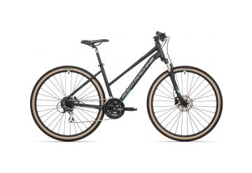 Rock Machine CrossRide 300 lady mat black/dark silver/neon cyan 2020 - 1