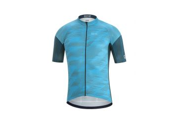 Pánský dres GORE C3 Knit Design Jersey-dynamic cyan/orbit blue - 1