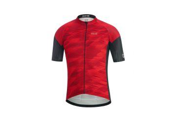 Pánský dres GORE C3 Knit Design Jersey-red/black - 1