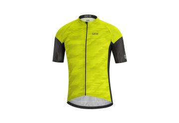 Pánský dres GORE C3 Knit Design Jersey-citrus green/black - 1
