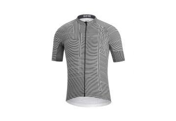 Pánský dres GORE C3 Line Brand Jersey-white/black - 1