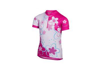 Etape - dětský dres RIO, bílá/růžová - 1