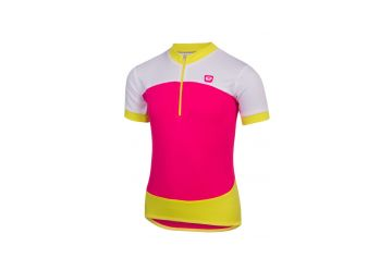 Etape – dětský dres PEDDY, růžová limeta - 1
