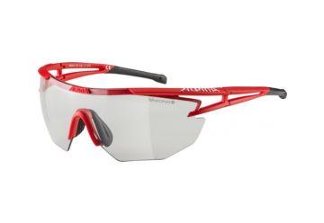Sportovní fotochromatické brýle Alpina Eye-5 Shield VL+, Red matt-black - 1